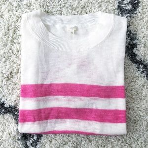 J. Crew | Striped Short Sleeve Sweater
